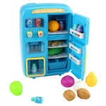 MoFun QC8B Electric Simulation Refrigerator + Vending Machine Kids Toy Set with Door, Support Light / Ringtone / Fog Function(Dark Blue)