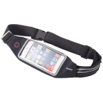 Romix RH16 Double Layer Design Fashionable Waterproof Waist Bag with Reflective Strip, 4.7 Inch (Black)