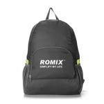 Romix RH27 Outdoor Folding Waterproof Double Shoulder Bag Backpack, Capacity: Below 20L (Black)