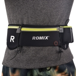 Romix RH42 Travel Fashionable Waterproof Waist Bag for Phones within 6.0 Inch, with Earphone Port (Black)