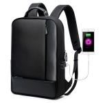 Bopai 851-002611 Business Detachable Anti-theft Waterproof Large Capacity Double Shoulder Bag,with USB Charging Port, Size: 30x15x44cm(Black)
