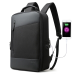 Bopai 851-009911 Business Anti-theft Waterproof Large Capacity Double Shoulder Bag,with USB Charging Port, Size: 30.5x13x45cm (Black)