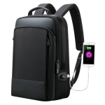 Bopai 61-07311 Large Capacity Anti-theft Waterproof Backpack Laptop Tablet Bag for 15.6 inch and Below, External  USB Charging Port (Black)