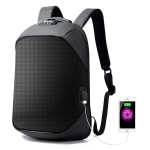 Bopai 751-006271 Large Capacity Password Lock Zipper Buckle Fashion Breathable Laptop Backpack with External USB interface, Size: 32 x 15 x 46cm (Black)