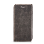 Retro Simple Ultra-thin Magnetic Horizontal Flip Leather Case for OnePlus 7, with Holder & Card Slots & Lanyard (Black)