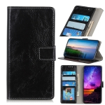 Retro Crazy Horse Texture Horizontal Flip Leather Case for OPPO Reno 5G / 10X Zoom, with Holder & Card Slots & Wallet & Photo Frame (Black)