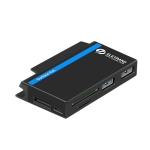 ROCKETEK RT-SGO737 2 USB 3.0 + Micro USB Interface Hub for Microsoft Surface Go, with 2 TF Card & SD Card Slots