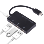 3 in 1 Type-C to Type-C + Card reader + 2 x USB Interfaces Charging HUB, Support PD Fast Charging(Black)