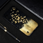 Gold Butterfly Painted Pattern Soft TPU Case for Galaxy A10