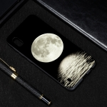 Moon Painted Pattern Soft TPU Case for Galaxy A10