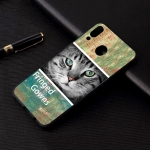 Cat Painted Pattern Soft TPU Case for Galaxy A40
