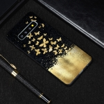 Gold Butterfly Painted Pattern Soft TPU Case for Galaxy S10