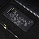 Lotus Pond Painted Pattern Soft TPU Case for Galaxy S10