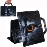 Half-Faced Cat Pattern Horizontal Flip Leather Case for Galaxy Tab A 10.1 (2019) T510 / T515, with Holder & Card Slot & Wallet