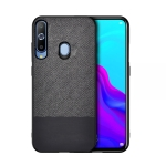 Shockproof Splicing PU + Cloth Protective Case for Galaxy A70 (Black)