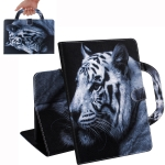 White Tiger Pattern Horizontal Flip Leather Case for Galaxy Tab A 10.1 (2019) T510 / T515, with Holder & Card Slot & Wallet
