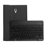 ST590S Bluetooth 3.0 Fine Wool Texture PU Leather ABS Detachable Seven-color Backlight Bluetooth Keyboard Leather Case for Samsung Galaxy Tab A 10.5 inch T590 / T595, with Pen Slot & Holder (Black)