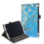 Cowhide Texture Apricot Pattern Colored Drawing Horizontal Flip Leather Case for Galaxy Tab A 10.1 (2019) T510 / T515, with Holder
