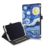 Cowhide Texture Starry Sky Pattern Colored Drawing Horizontal Flip Leather Case for Galaxy Tab A 10.1 (2019) T510 / T515, with Holder