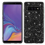 Glitter Powder Shockproof TPU Case for Galaxy S10 5G (Black)