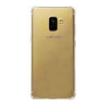 Shockproof TPU Protective Case for Galaxy A8 Plus (2018) (Transparent)