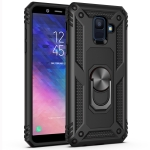 Armor Shockproof TPU + PC Protective Case for Galaxy A6 (2018), with 360 Degree Rotation Holder (Black)