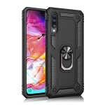 Armor Shockproof TPU + PC Protective Case for Galaxy A70, with 360 Degree Rotation Holder (Black)