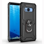Armor Shockproof TPU + PC Protective Case for Galaxy S8 Plus, with 360 Degree Rotation Holder (Black)
