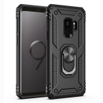 Armor Shockproof TPU + PC Protective Case for Galaxy S9, with 360 Degree Rotation Holder (Black)