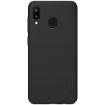 NILLKIN Frosted Concave-convex Texture PC Case for Galaxy A20 (Black)
