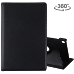 Litchi Texture Horizontal Flip 360 Degrees Rotation Leather Case for Galaxy Tab S5e 10.5 T720 / T725, with Holder (Black)