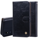 Business Style Oil Wax Texture Horizontal Flip Leather Case for Galaxy A2 Core, with Holder & Card Slots & Wallet (Black)