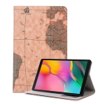 Map Texture Horizontal Flip Leather Case for Galaxy Tab A 10.1 (2019) T510 / T515,  with Holder & Card Slots & Wallet, Random Texture Delivery
