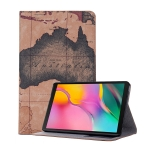 Map Texture Horizontal Flip Leather Case for Galaxy Tab A 8 (2019) P200 / P205,  with Holder & Card Slots & Wallet, Random Texture Delivery