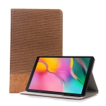 Cross Texture Horizontal Flip Leather Case for Galaxy Tab A 10.1 (2019) T510 / T515,  with Holder & Card Slots & Wallet (Brown)