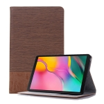 Cross Texture Horizontal Flip Leather Case for Galaxy Tab A 8 (2019) P200 / P205,  with Holder & Card Slots & Wallet (Brown)