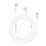 hoco L10 Acoustic Type-C Wired Earphones with Mic (White)