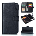 Litchi Texture Horizontal Flip Leather Case for Galaxy A5 (2017), with Holder & Card Slots & Wallet (Black)