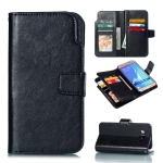 Litchi Texture Horizontal Flip Leather Case for Galaxy J510, with Holder & Card Slots & Wallet(Black)