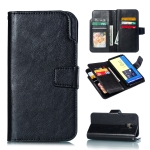 Litchi Texture Horizontal Flip Leather Case for Galaxy J6 (2018), with Holder & Card Slots & Wallet(Black)