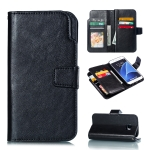 Litchi Texture Horizontal Flip Leather Case for Galaxy S7, with Holder & Card Slots & Wallet (Black)