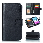 Litchi Texture Horizontal Flip Leather Case for Galaxy J7, with Holder & Card Slots & Wallet (Black)