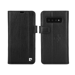 Pierre Cardin PCL-P05 Horizontal Flip Leather Case for Galaxy S10 Plus, with Holder & Card Slot & Wallet (Black)