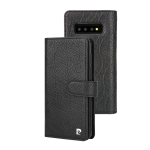 Pierre Cardin PCL-P09 Horizontal Flip Leather Case for Galaxy S10 Plus, with Card Slot & Wallet(Black)