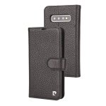 Pierre Cardin PCL-P11 Horizontal Flip Leather Case for Galaxy S10, with Holder & Card Slot (Black)