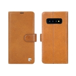 Pierre Cardin PCS-P08 Horizontal Flip Leather Case for Galaxy S10 Plus, with Holder & Card Slot(Brown)