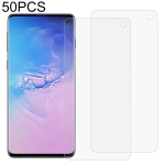 50 PCS 3D Curved Full Cover Soft PET Film Screen Protector for Galaxy S10