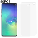 50 PCS 3D Curved Full Cover Soft PET Film Screen Protector for Galaxy S10+