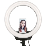 AFI R116 38W 16 inch Dimmable Rotatable LED Ring Photography Self-timer Fill Light with Mobile Phone Clip