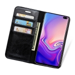 MUSUBO H3 Crazy Horse Texture Horizontal Flip PU Leather Case for Galaxy S10, with Holder & Card Slots & Wallet (Black)